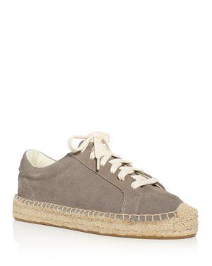 Soludos Women's Tennis Platform Espadrille Lace Up Sneakers