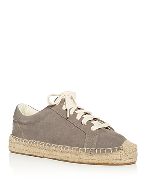 Soludos Women's Tennis Platform Espadrille Lace Up Sneakers