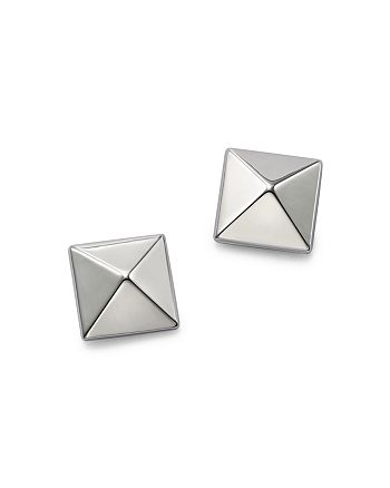 Bloomingdale's - 14K White Gold Large Pyramid Earrings - 100% Exclusive