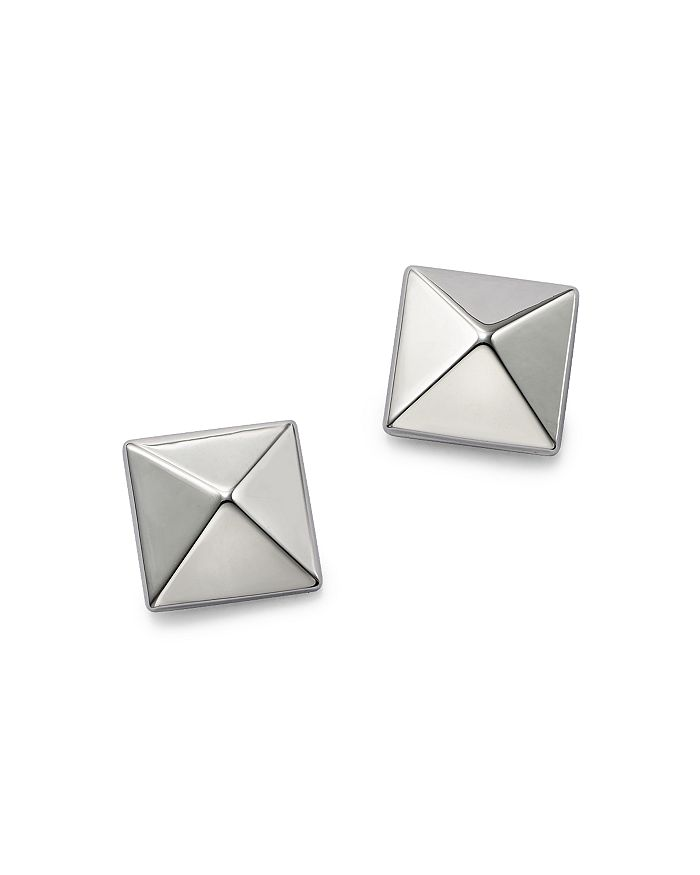 2b3310f6b2116 Pyramid Post Earrings in 14K White Gold - 100% Exclusive