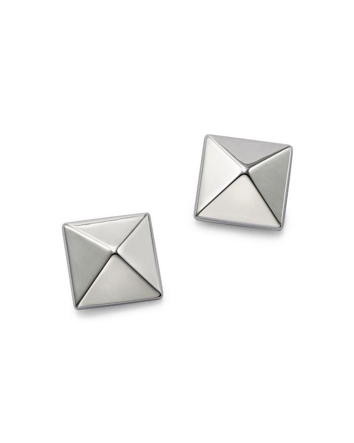 Bloomingdale's Pyramid Post Earrings in 14K White Gold - 100% Exclusive  | Bloomingdale's