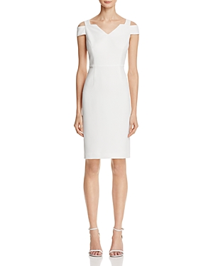 Adrianna Papell Cold-Shoulder Crepe Dress
