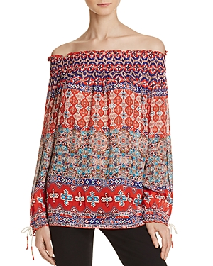 Love Sam Pattern Stripe Off-The-Shoulder Top - 100% Exclusive