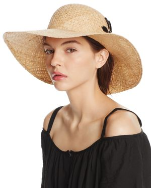 Aqua Straw Flower Floppy Sun Hat - 100% Exclusive
