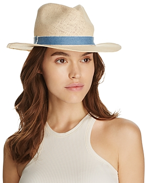 Cara New York Fedora with Chambray Trim - 100% Exclusive