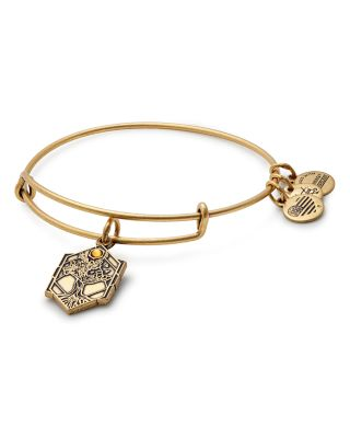 ALEX AND ANI Tree Of Life Adjustable Wire Bangle in Russian Gold