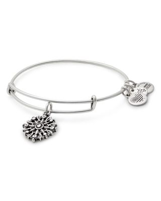 ALEX AND ANI Compass Adjustable Wire Bangle (Nordstrom Exclusive) in Russian Silver