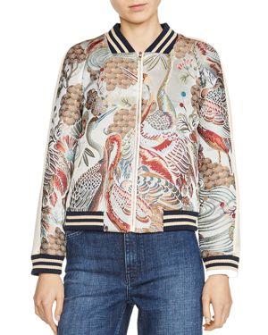 Maje Boyan Embroidered Bomber Jacket, $194.39