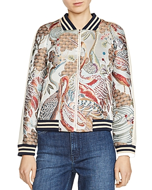 Maje Boyan Embroidered Bomber Jacket