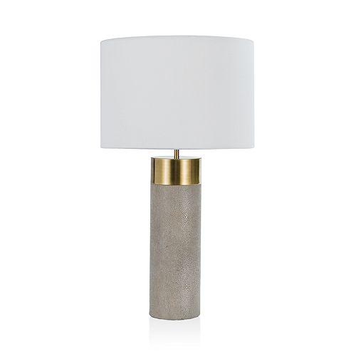 Regina Andrew Design - Harlow Shagreen Cylinder Lamp