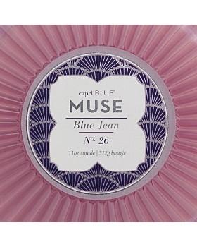 Capri Blue - Blue Jean Muse Faceted Candle Jar