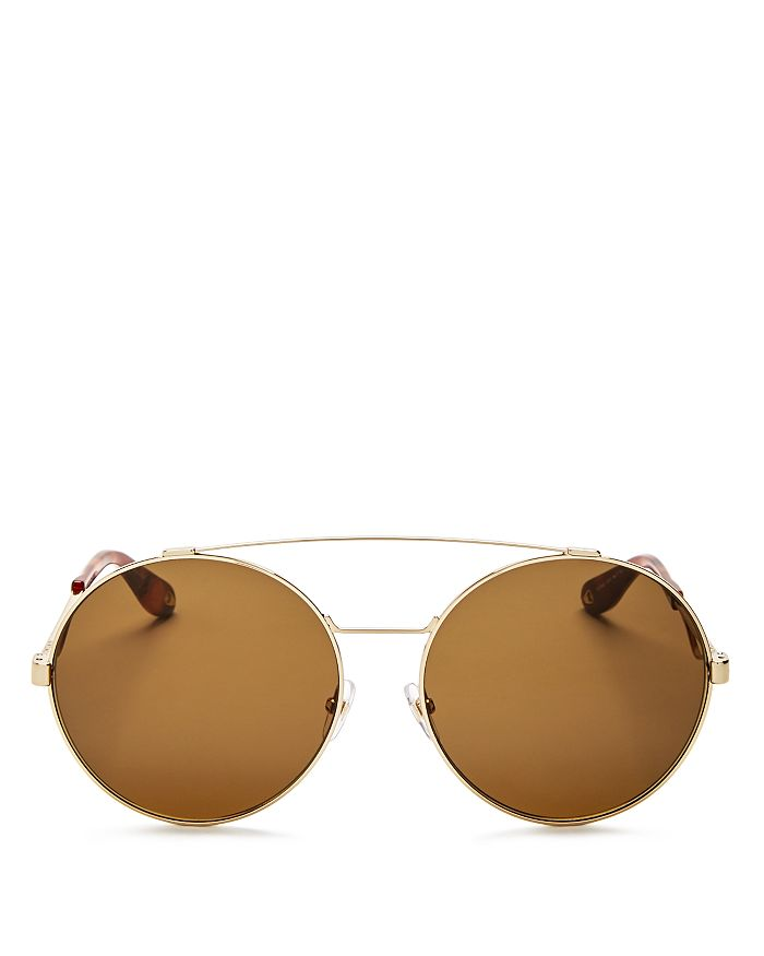 Givenchy - Women's Double Brow Bar Oversized Round Sunglasses, 60mm