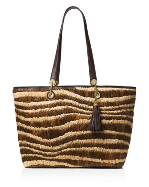 Michael Michael Kors Malibu Large East/West Raffia Tote