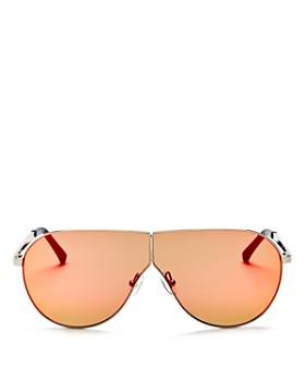 3.1 Phillip Lim - Women's Mirrored Shield Aviator Sunglasses, 70mm