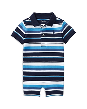 Ralph Lauren Childrenswear Boys' Striped Polo Shortall - Baby