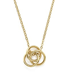 """Bloomingdale's - 14K Yellow Gold Love Knot Necklace, 18"""" - 100% Exclusive"""