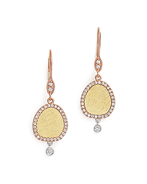 Meira T 14K White, Yellow and Rose Gold Dangle Earrings with Diamonds