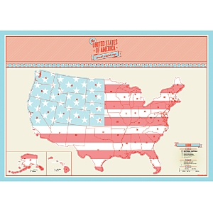 Luckies of London Scratch Map Usa Travel