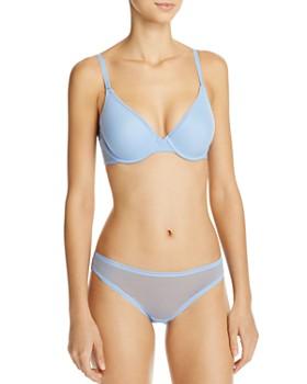On Gossamer - Mesh Convertible T-Shirt Bra & Mesh Hip Bikini