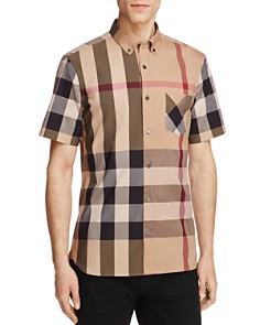 Burberry Thornaby Plaid Regular Fit Button-Down Shirt - Bloomingdale's_0