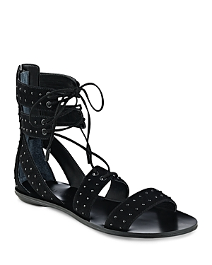 Kendall and Kylie Fabia Studded Suede Ankle Tie Sandals
