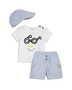 Absorba Boys Hello Tee Shorts  Hat Set  Baby