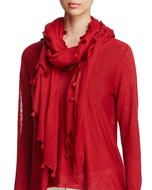 Eileen Fisher Tassel-Trimmed Organic Cotton Scarf at Bloomingdale's