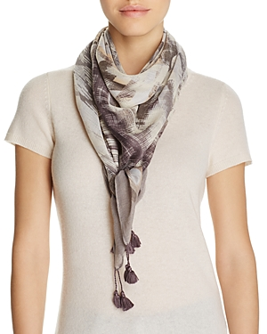 Fraas Brushed Geo Stripes Square Scarf