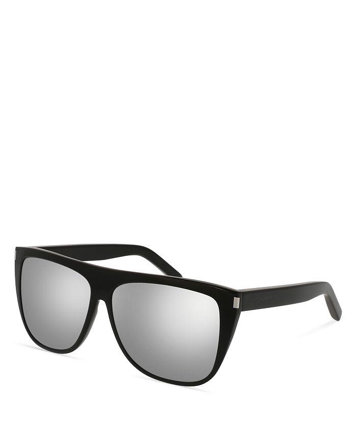 8ecae68da6 Saint Laurent - Men s SL 1 Mirrored Flat Top Square Sunglasses