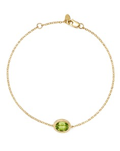 Bloomingdale's - Peridot Oval Bracelet in 14K Yellow Gold - 100% Exclusive
