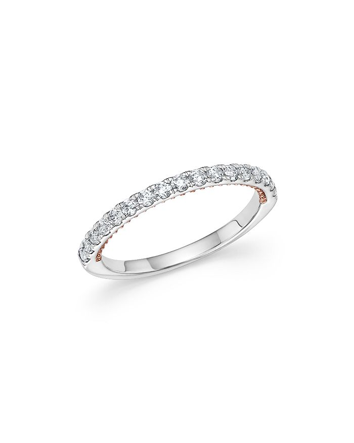 Bloomingdale S Diamond Ring In 14k White And Rose Gold 35 Ct