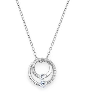 Diamond Circle Pendant Necklace in 14K White Gold, .30 ct. t.w. - 100% Exclusive