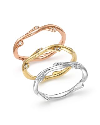 Diamond Stacking Ring in 14K Rose Gold, .10 ct. t.w. - 100% Exclusive