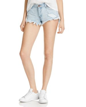 Pistola Gigi Low Rise Denim Shorts in New Era