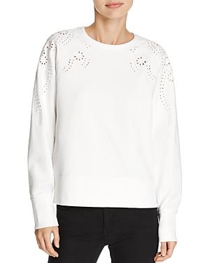 rag & bone/Jean Embroidered Eyelet Sweatshirt