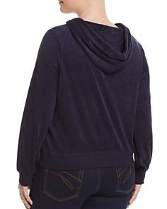 Juicy Couture Black Label Plus - Plus Robertson Microterry Zip Hoodie - 100% Exclusive