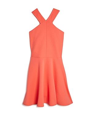 Aqua Girls' Textured Stripe Dress, Sizes S-xl - 100% Exclusive
