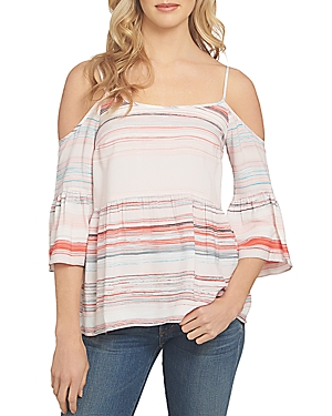 1.state Bell Sleeve Cold Shoulder Blouse