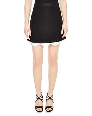 Sandro Edonia Layered-Look Mini Skirt