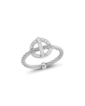 ALOR - Diamond Grey Cable Ring