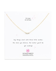 """Dogeared - Three Wishes Necklace, 16"""""""