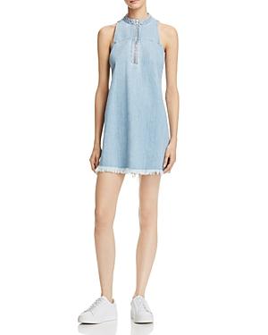 Guess Stella Zip-Front Denim Dress