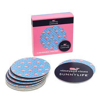 Sunnylife - + Vineyard Vines Whaley Good Life Reversible Coasters