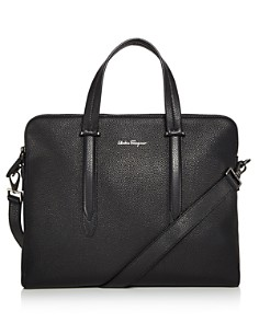 Salvatore Ferragamo - Firenze Tumbled Calfskin Slim Briefcase