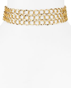 Aqua Kingsley Chain Choker Necklace, 11.5 - 100% Exclusive