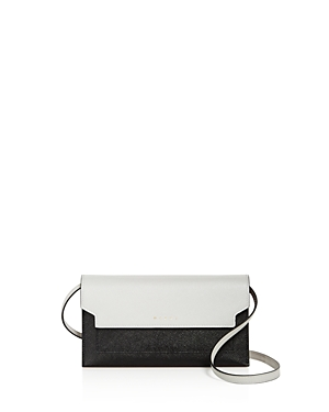 Marni Color Block Leather Wallet On Chain Crossbody