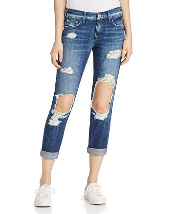 True Religion - Cameron Distressed Cropped Jeans