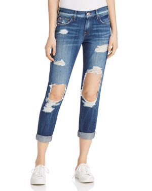 True Religion Cameron Distressed Cropped Jeans 2565273