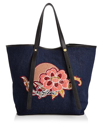See by Chloé - Andy Embroidered Canvas Tote