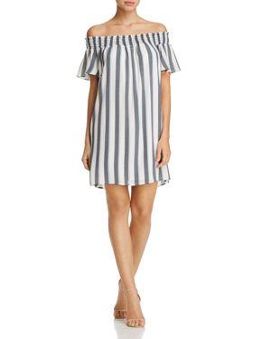 Aqua Stripe Off-the-Shoulder Dress - 100% Exclusive 2566551